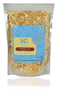 Healthy Calories Roasted Savouries - Spicy & Tangy Mix, 100 grams ( Combo of 3 packs)