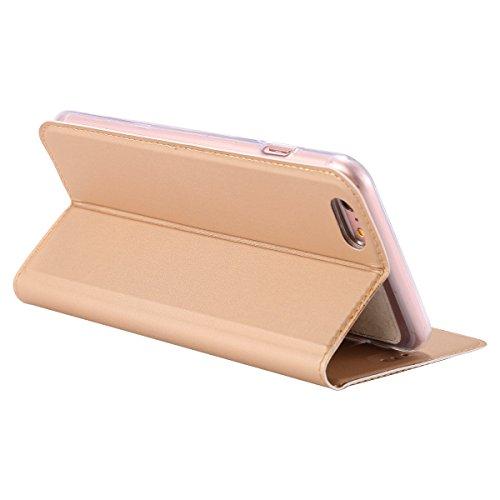 Custodia Cover per iPhone 7/8,Ukayfe Luxury Ultra Slim PU pelle Protettiva Flip Portafoglio Cover Case Copertura Custodia con Super Sottile TPU Interno Case con Chiusura Magnetica per iPhone 7/8 Puro  Doro