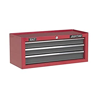 Sealey AP22309BB Add on Chest 3 Drawer with Ball Bearing Runners -Red/gray