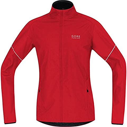 GORE RUNNING WEAR Herren Warme Laufjacke, Leicht, GORE WINDSTOPPER, ESSENTIAL WS AS Partial Jacket, Größe L, Rot, JWESNO