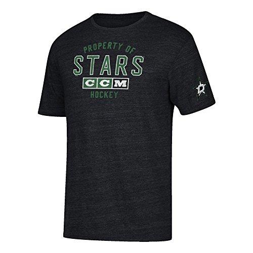 adidas NHL Dallas Stars Team Property Tri-Blend Short Sleeve Tee, Small, Black Heather