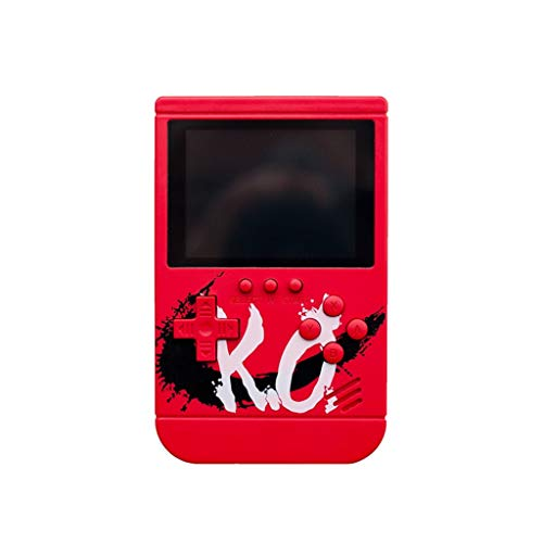 Neu!!Tuhao Handheld Spielkonsole,3 Zoll 300 Spiele Retro FC Game Player Klassische Spielekonsole Klassische Retro Tragbare Spiele Konsolen,Tolle Geschenke für Kinder (Rot) -