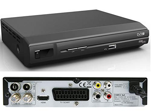 Decoder digitale HD DTT, SAT, PVR, dual tuner, Mod. CIGNO HD