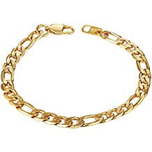 PROSTEEL Herren Armband Edelstahl Figarokette Armband 6/7,5/10MM Breit Fashion Kettenarmband Armkette für Herren, Länge 19cm/21cm wählbar