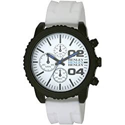 Henley Herren-Armbanduhr Henley Gents Decorative Multi-Dial Sports Watch Analog silikon weiss H02056.4