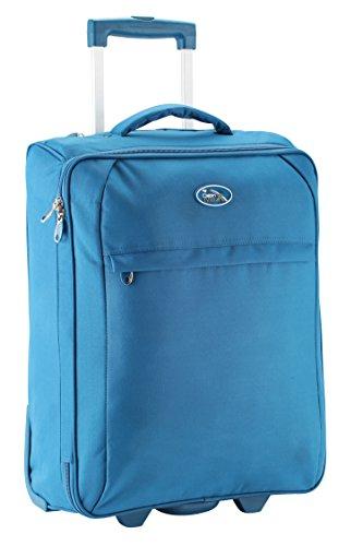 Cabin Max Palma Handgepäcks 55 x 40 x 20 cm faltbaren - speichert flach (Blau) (Speichert Trolley)
