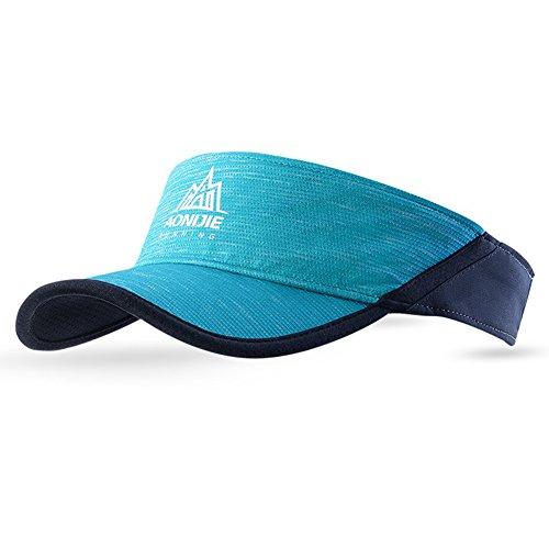 Prom-near Neue Sonnenschutzvisier-Kappe atmungsaktive outdoor sport hut Breathable Running Outdoor Hat Cap 3 Colors(1pc (Blue)