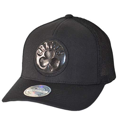 Mitchell & Ness Boston Celtics Trucker Cap Zig Zag - Schwarz - Einstellbar Boston Trucker Hut