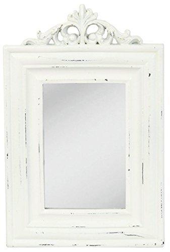 62S031Clayre y Eef–Espejo de pared–blanco ca. 10,6x 6,