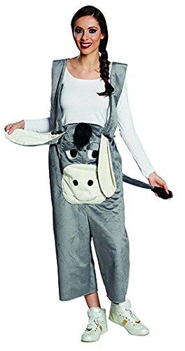 Kostüm 'Esel Latzhose' lustige Latzhose mit Eselgesicht, Schlappohren und Schwanz, in Gr. S-XL, für Karneval Fasching (X-Large)