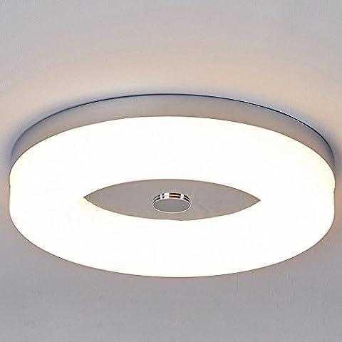 LED-Deckenlampe in Ringform Glänzend Verchromt und Wasserdichtes Design 230V 12W 1200LM 3000K LEDs Deckenleuchte Badezimmer (Bad Scheuern)