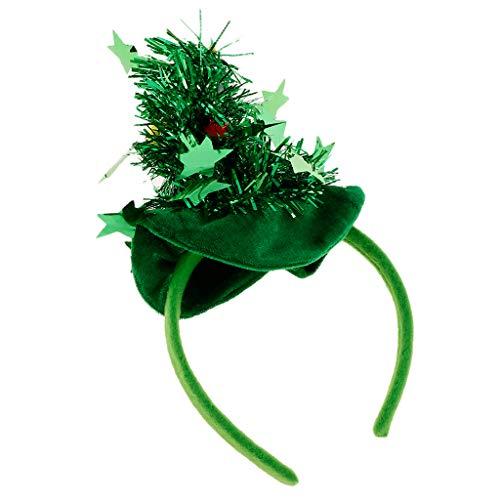 um Stirnband Haarreif Kopfshmuck Haar Accessoires Kostüm Zubehör - Grün ()