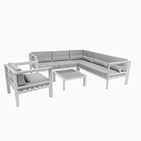 greemotion Salon de jardin aluminium Stockholm – Salon de jardin