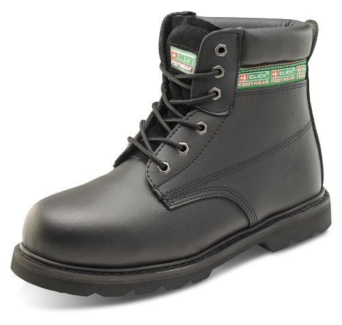 Goodyear Welt (Click Goodyear Welt Safety Boot Midsole Black - Size 7)