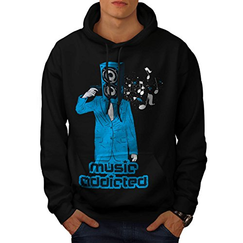 music-head-addiction-horror-dj-men-new-black-xl-hoodie-wellcoda