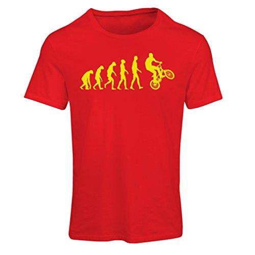 T-shirt femme L'évolution du vélo Rouge Multicolore