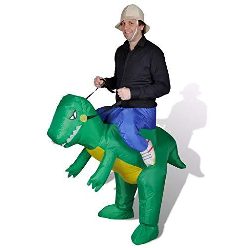 vidaXL Kostüm Dinosaurier Selbstaufblasbar Fasching Karneval Promotion Party
