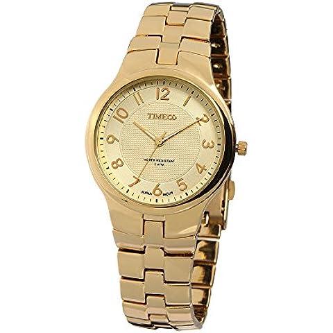 Time100W50005G.01A - Reloj de pulsera de hombre, acero inoxidable, color dorado