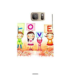 Printvisa Love Animated Kids Back Case Cover for Samsung Galaxy S7 edge::Samsung Galaxy S7 edge Duos with dual