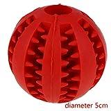 Kongnijiwa 5cm / 7cm Dog Balles en Caoutchouc interactif Elasticité Dents Propres Balle Pet Dog Jouets à mâcher Dents de Nettoyage Balles Jouets