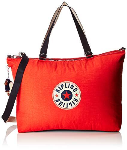 Kipling XL BAG Bolsa de tela y playa, 64 cm, 31.5 liters, Rojo (Active Red Bl)