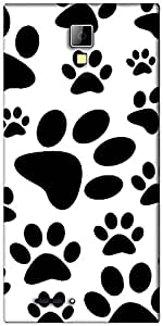 Snoogg Dog Stamps Designer Protective Back Case Cover For Micromax Canvas Express A99