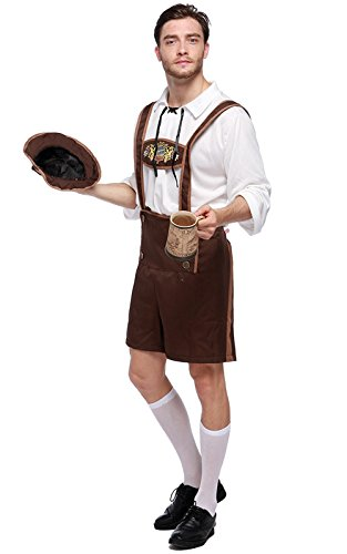 Herrenkostüm Trachten Set Herren Oktoberfest Kostüm Bavarian Guy Hosen Kostüm Set (Oktoberfest Kostüm Guy)