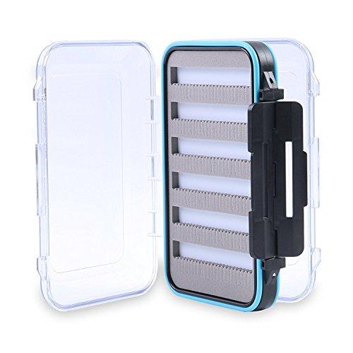 Maxcatch Wasserdichte Fliegendosen Doppelseitige Trasparente Deckels Fliegenbox (Size B)