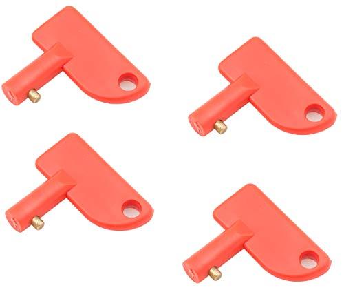 wellenshop 4 Stück Universal Schlüssel Ø 10mm für Batterie-Hauptschalter Batterie-Trennschalter Schalter Trennerschalter Hauptstrom-Schalter Batterietrenner