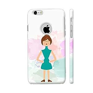 Colorpur Cute Fashionable Girl Artwork On Apple iPhone 6 / 6s Logo Cut Cover (Designer Mobile Back Case) | Artist: Designer Chennai
