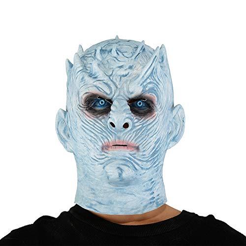 Game of Thrones Halloween Weiße Walker Zombie Maske Night's King Cosplay Kostüm (Games Of Thrones Halloween-kostüme)