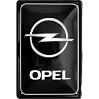 Opel Logo Black Car Auto 20 x 30 cm cartel de ...