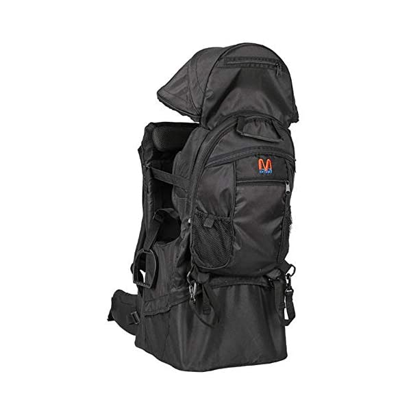 Lixada Baby Backpack Hiking Toddler Child Holder Backpack with Sunshade Visor  Bearing capacity up to 55lb. Padded sitting compartment with safety belt and back cushion. Comfortable for baby to put feet on with kickstand. 5