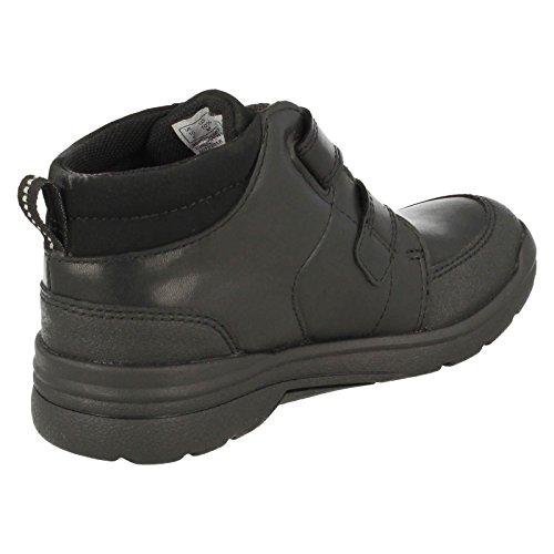 Clarks ObieTop GTX Infant School Boys chaussures en noir Black Leather