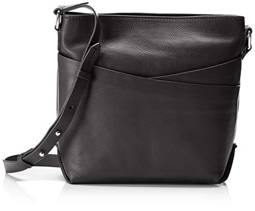 Clarks Damen Topsham Charm Schultertasche, Schwarz (Black Leather), 10x24x32 cm - Taschen Clark Für Frauen