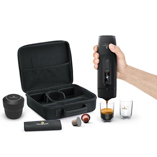 Handpresso 48310 Auto Set Capsule Mobile Espressomaschine, Schwarz