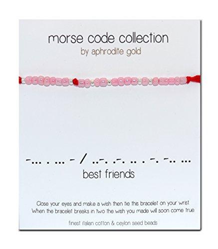 best-friends-diseno-de-codigo-morse-pulsera-de-hilo-rojo-wrap-pulsera