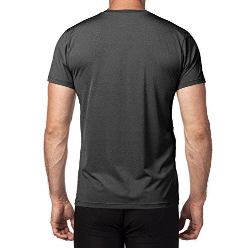 Lapasa Herren Sport T-Shirt, 1 bis 2er Pack Sport Performance T-Shirt mit Mesh Einsätze, Quick-Dry Sport Funtionkstshirt, M015 Schwarz / 1 Pack