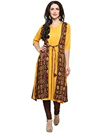 Ecolors Fab Women's Straight Stylish Latest Party Wear Cotton Kurta