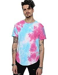 Pizoff Unisex Hip Hop Urban Basic Langes T Shirts mit Tarnmuster