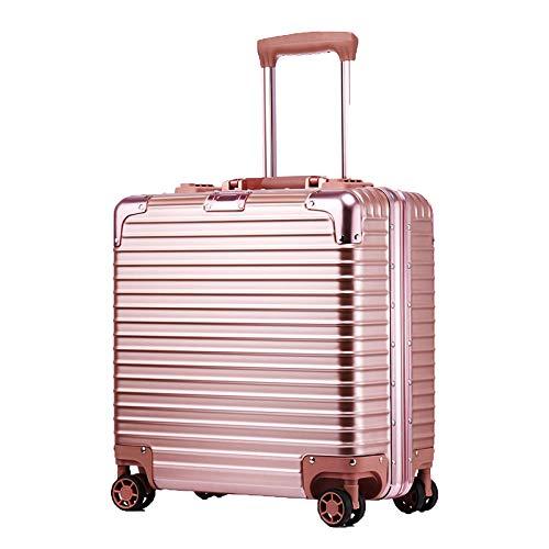 ADEMI Valigie Da Trasporto Bagagli Da 18 Pollici Con Trolley A 4 Ruote,Rose-gold-18Inch