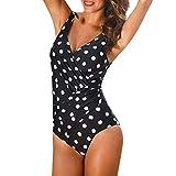WQIANGHZI Costumi da Bagno Donna Intero Mare Sexy Costume One Piece Mare Stampato Pois Contenitivo Bikini Push Up Imbottito Brasiliana Swimwear