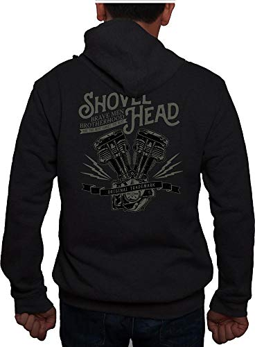 Saxon Zip Hoodie Shovel Head Schwarz 2XL