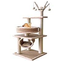 XWDQ Cat Tree Spring and Summer Pet Cat Litter Cat Scratch Board Cat Toy Claw Three-Layer Cat Slimbing Frame Cat Jumping Platform