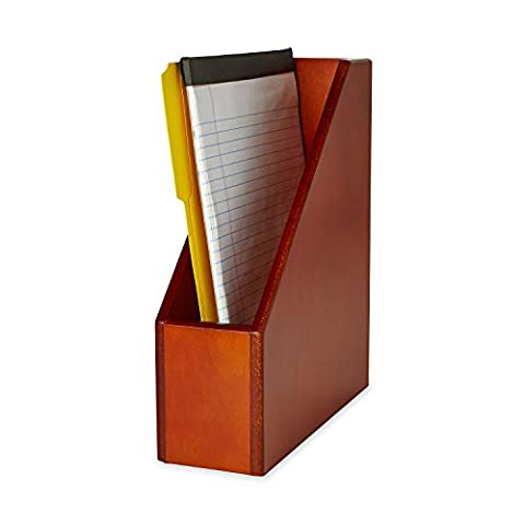 Wood Tones Magazine File, 3 1/2 x 10 1/4 x 11 3/4, Mahogany
