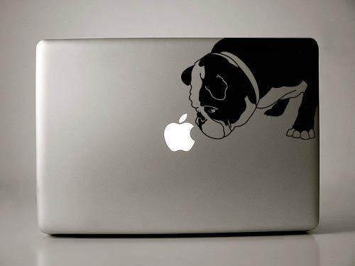 Curtis The English Bulldog-Schwarz Aufkleber MacBook Laptop Bulldog-handy-fall