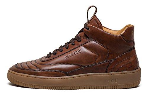 Pantofola d'Oro Suprema, Scarpe da Ginnastica Alte Uomo, Marrone (43 Tabacco), (40)