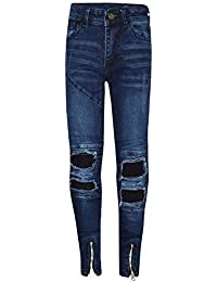 41aa042a6 A2Z 4 Kids Kids Boys Stretchy Jeans Designer's Ripped Denim Skinny Pants  Fashion Slim Fit Trousers