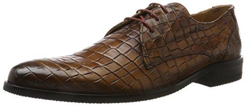 Melvin & Hamiltontoni 1 - Chaussures À Lacets Braun Pour Homme (bois T-crock, Bleu Modica)