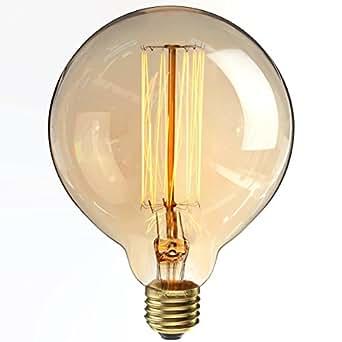 Kingso ampoules incandescence lampe edison 40w 220v g125 globe r tro ampoule vintage antique - Lampe a incandescence classique ...
